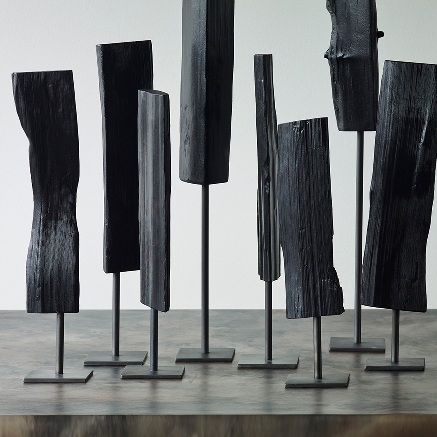 """Tabletop Reflections, (small,single)various heights, 17"""" - 24"""" oah"""