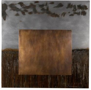 Acid wash on Steel artwork