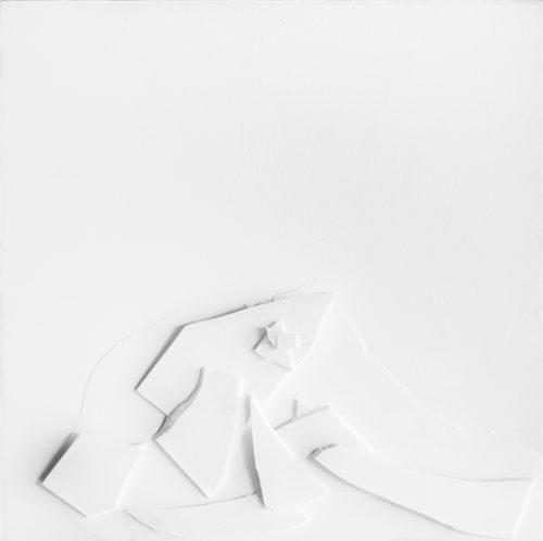 #404 white resin artwork