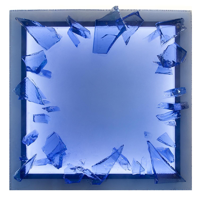 """Part of the Ice on Ice series  48"""" x 48"""", illuminated"""